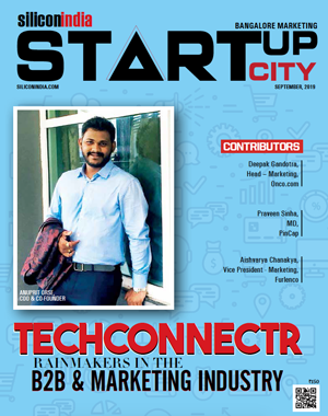silicon india mentions techconnectr in their September 2019 publication as one of the best startups in b2b lead generation market